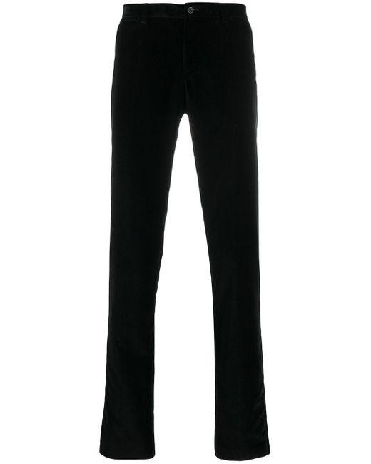 メンズ Dolce & Gabbana ベルベット スキニーパンツ Black
