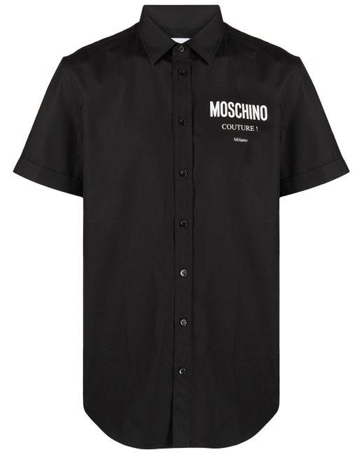 Camicia con stampa di Moschino in Black da Uomo