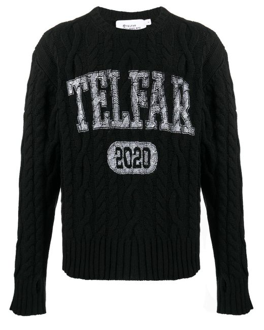 Telfar ケーブルニット セーター Black