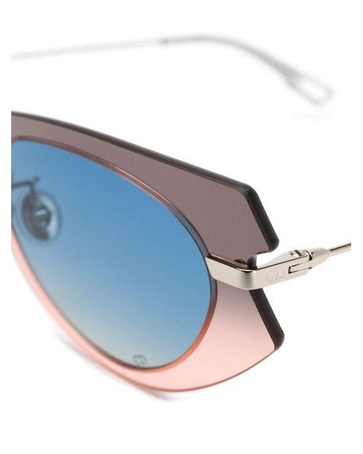 Солнцезащитные Очки Attitude 2 В Оправе 'кошачий Глаз' Dior, цвет: Gray