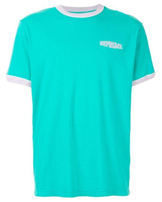 メンズ Supreme ロゴ Tシャツ Green