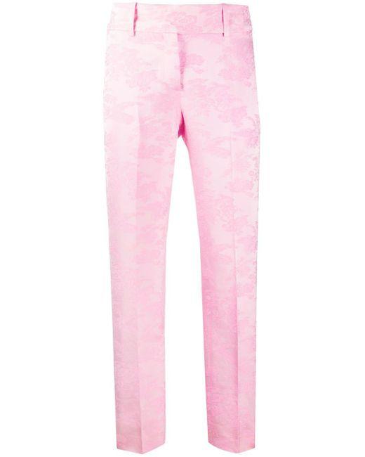 Ermanno Scervino フローラル スキニーパンツ Pink