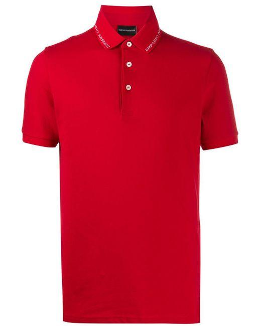 メンズ Emporio Armani ポロシャツ Red