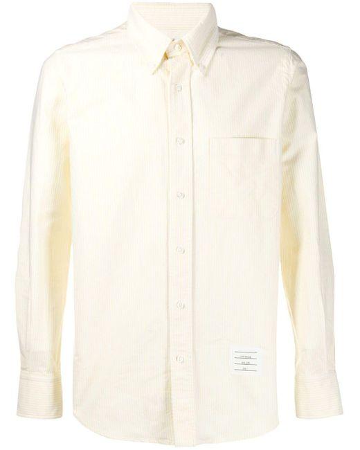 メンズ Thom Browne イエロー オックスフォード ユニバーシティストライプ シャツ Yellow