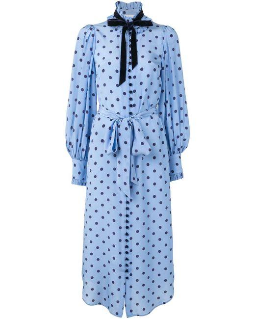 Zimmermann ポルカドット ドレス Blue