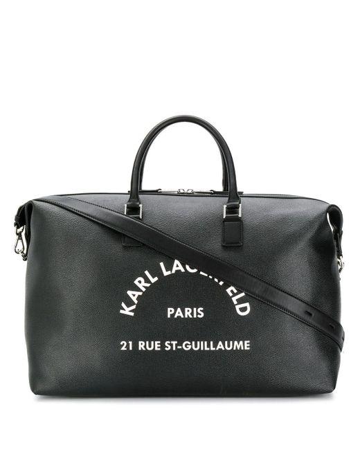 Karl Lagerfeld Rue St Guillaume ボストンバッグ Black