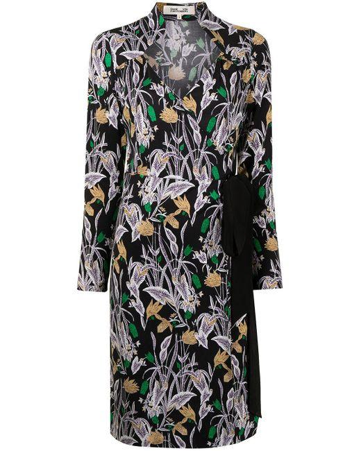 Diane von Furstenberg Tiffany Bali Flower ドレス Black