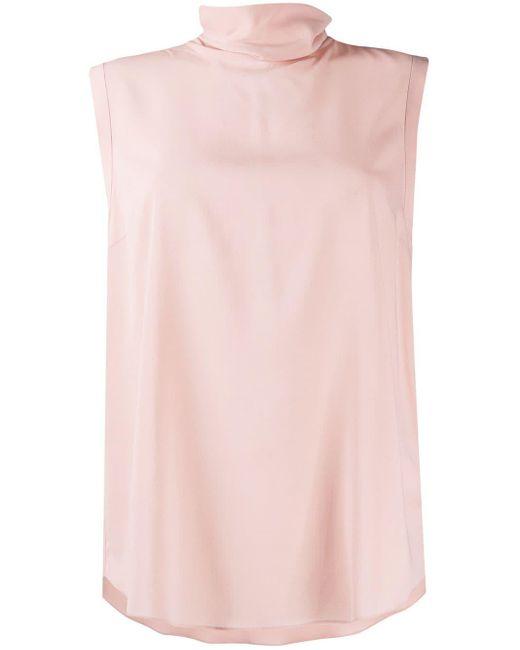 Топ Без Рукавов С Высоким Воротником Brunello Cucinelli, цвет: Pink