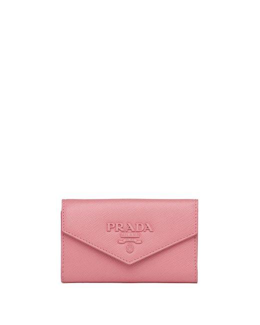 Prada サフィアーノ キーチェーン Pink