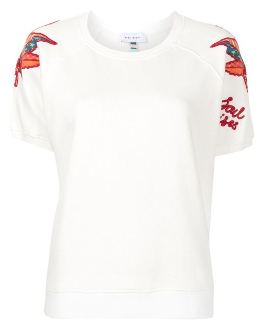 MIRA MIKATI エンブロイダリー Tシャツ White
