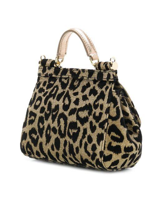 ... Lyst Dolce   Gabbana - Yellow Sicily Mini Tote Bag ... f23c4ca4e8100