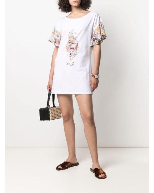 Liu Jo フレアスリーブ ドレス White