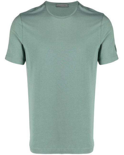 Corneliani Green Stretch-cotton T-shirt for men