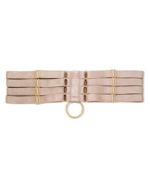 Allegra strap garters Bordelle en coloris Natural