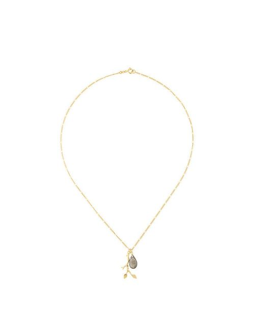 Wouters & Hendrix My favourite feather pendant necklace - Metallic 9ncah