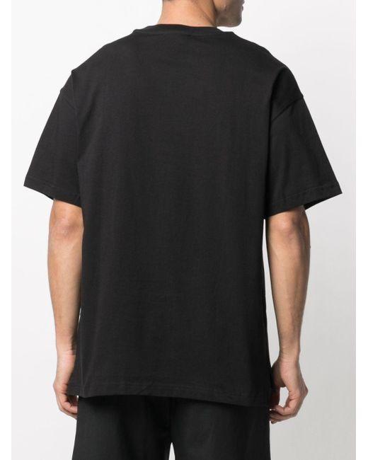 Camiseta con logo estampado Versace Jeans de hombre de color Black