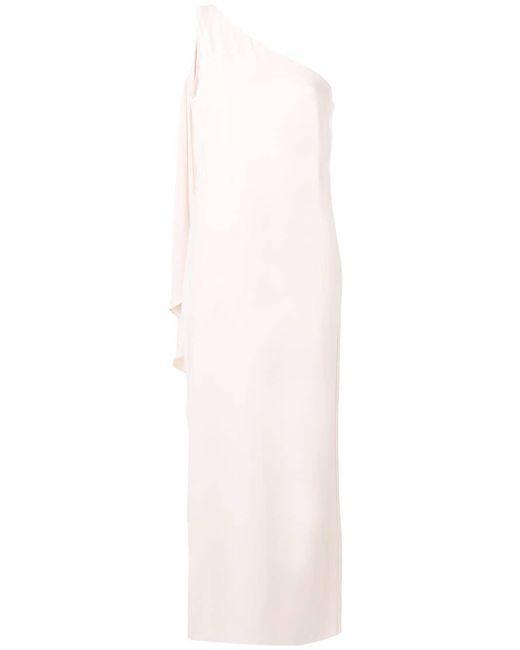 Lauren by Ralph Lauren ワンショルダー ドレス Pink