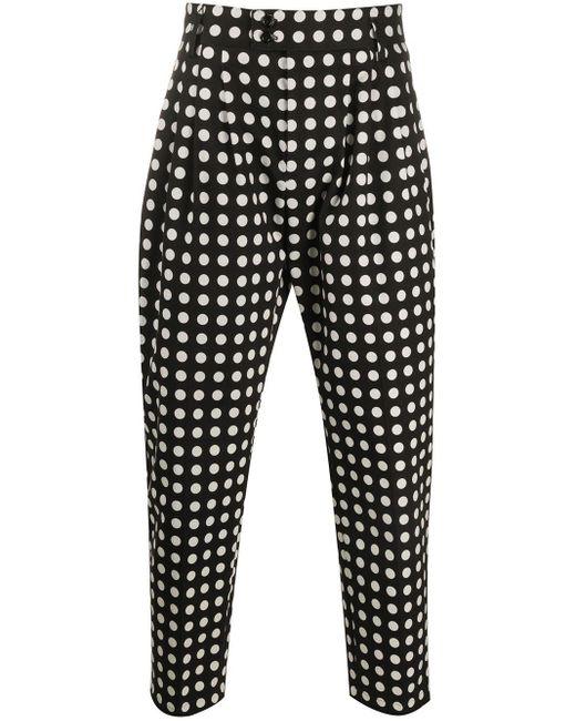 メンズ Dolce & Gabbana ドット クロップドパンツ Black