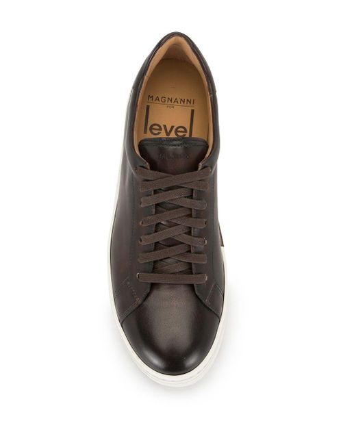 メンズ Magnanni Shoes レザー スニーカー Brown