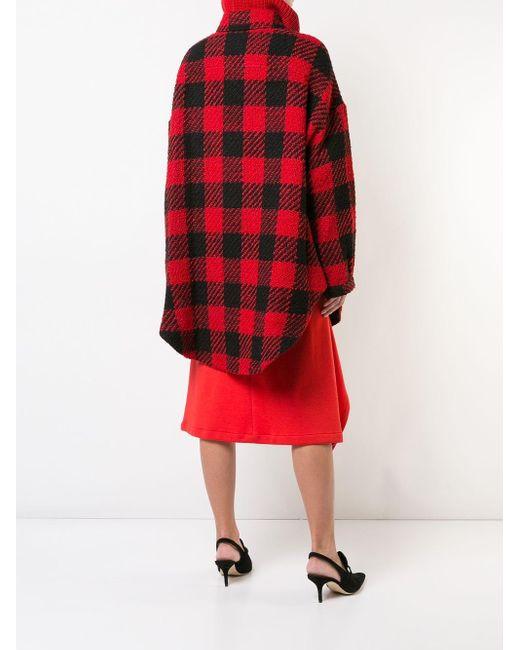 Monse チェック シャツ Red