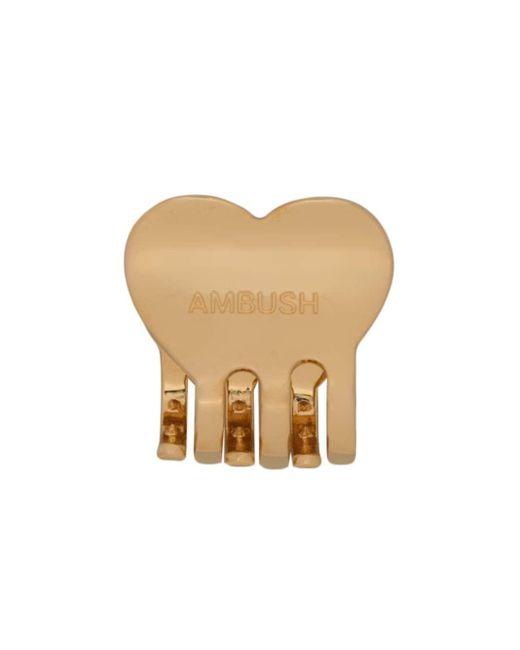 Ambush ロゴ ヘアクリップ Metallic