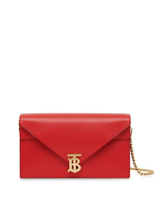 Burberry Tb クラッチバッグ Red