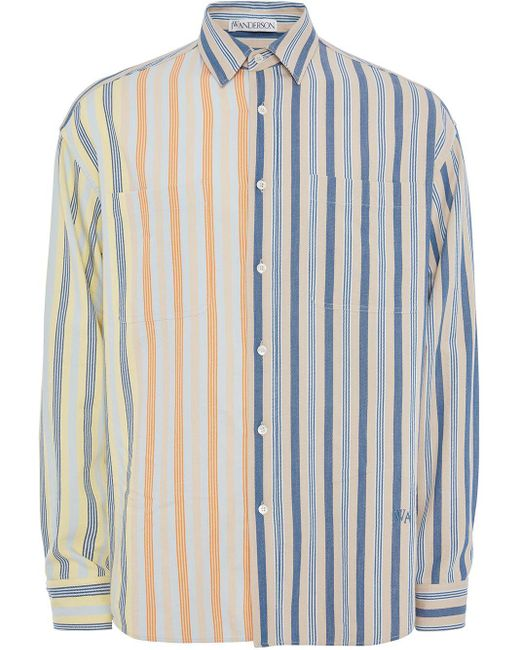 メンズ J.W. Anderson オーバーサイズリネンシャツ Blue