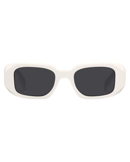 Prada Gray Rectangle-frame Tinted Sunglasses
