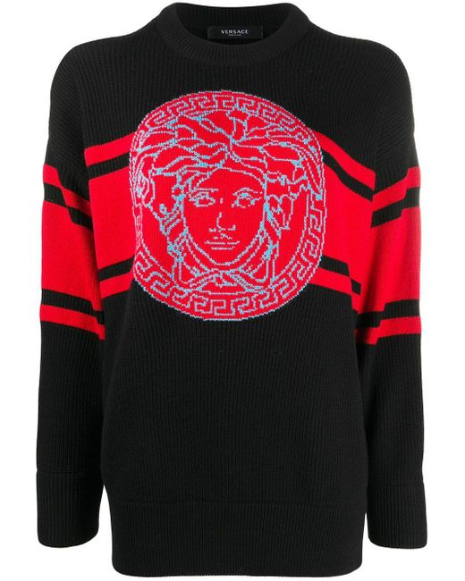 Versace メデューサ セーター Black