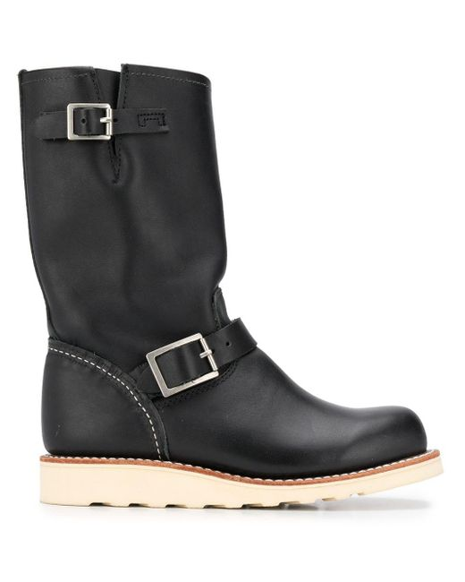 Red Wing Black Classic Engineer Leather Boots