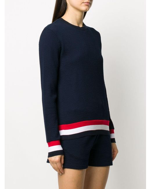 Thom Browne 4bar セーター Blue