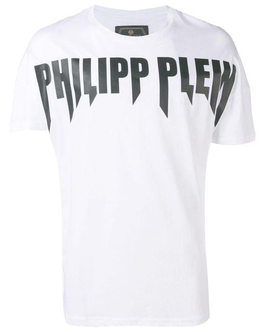 メンズ Philipp Plein Rock Pp Tシャツ White