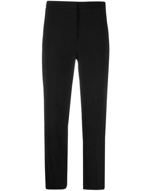 Patrizia Pepe Black Cropped Tailored Trousers