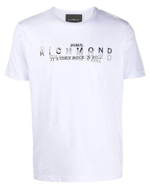 メンズ John Richmond レイヤード Tシャツ White