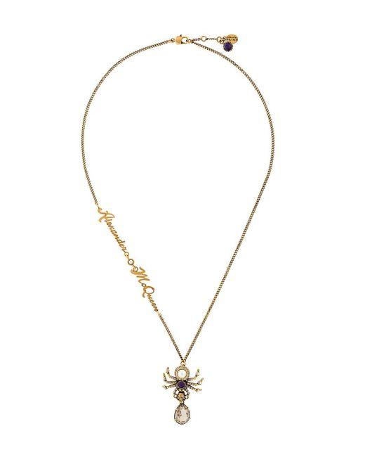 Alexander McQueen Metallic Spider Necklace