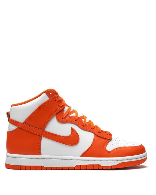 """Nike White Dunk High """"syracuse"""" Sneakers for men"""