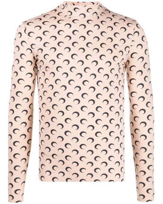 メンズ MARINE SERRE Moon プリント Tシャツ Pink