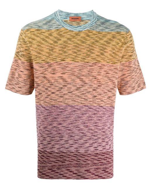 メンズ Missoni ストライプ Tシャツ Pink