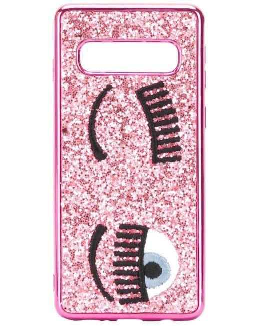 Chiara Ferragni Flirting Samsung S10 ケース Pink
