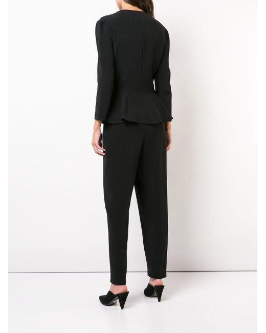 Stella McCartney ペプラム Vネック ジャンプスーツ Black