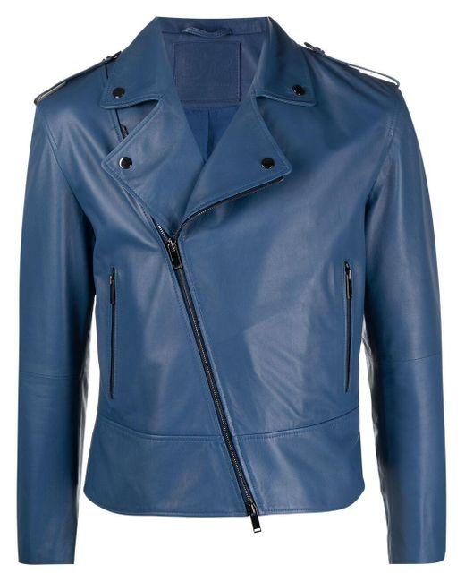 Байкерская Куртка С Косой Молнией Desa Nineteenseventytwo для него, цвет: Blue