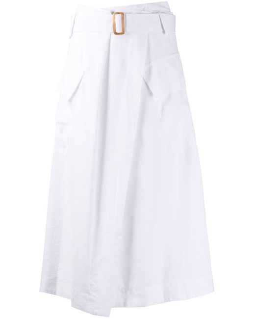 Vince フラップポケット スカート White