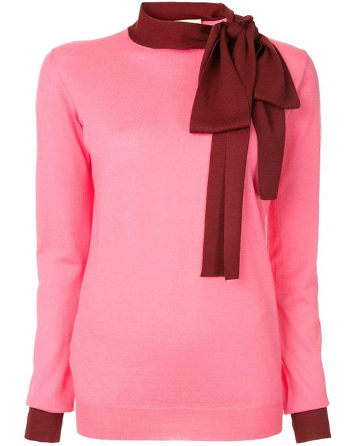 Marni リボンネック セーター Pink