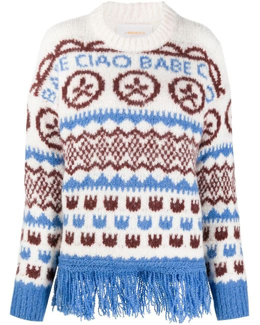 LaDoubleJ Engadina インターシャ セーター Multicolor