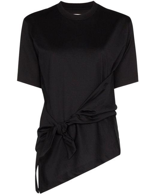 Marques'Almeida Camiseta con detalle de nudo en el lateral de mujer de color negro gHVNw