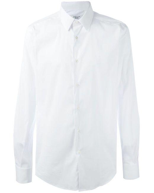 Fashion Clinic Timeless White Classic Plain Shirt for men