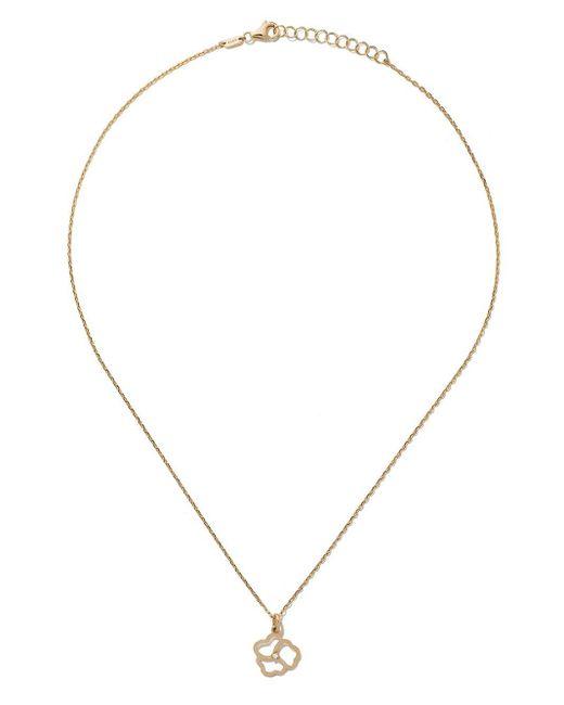 AS29 Flower ダイヤモンド ネックレス 14kイエローゴールド Metallic