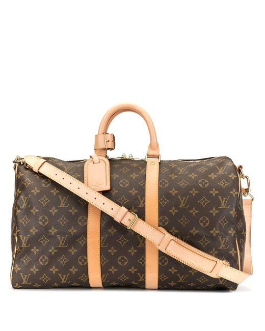 Louis Vuitton キーポル 45 バンドリエール 2way ハンドバッグ Brown