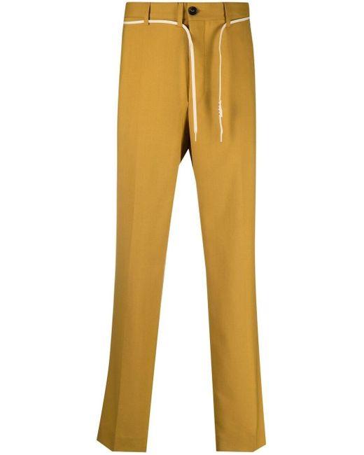 メンズ Marni ストレートパンツ Yellow