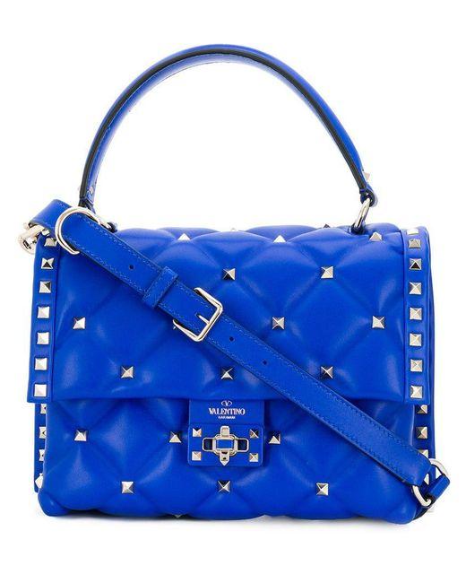 Valentino - Blue Garavani Candystud Tote - Lyst